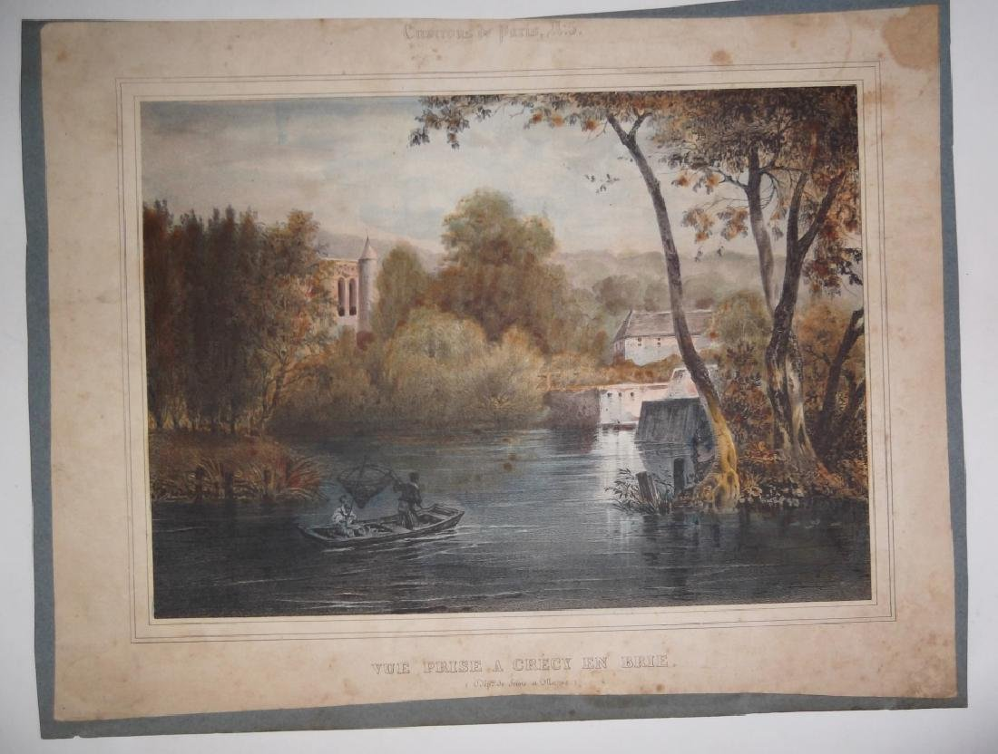 10 19th/20th c. colored etchings/engravings - 2