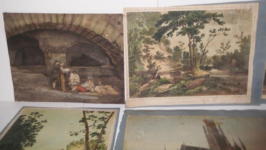 10 19th/20th c. colored etchings/engravings - 4