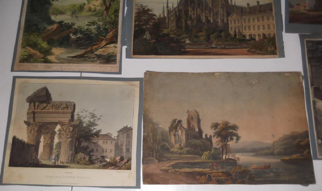 10 19th/20th c. colored etchings/engravings - 6