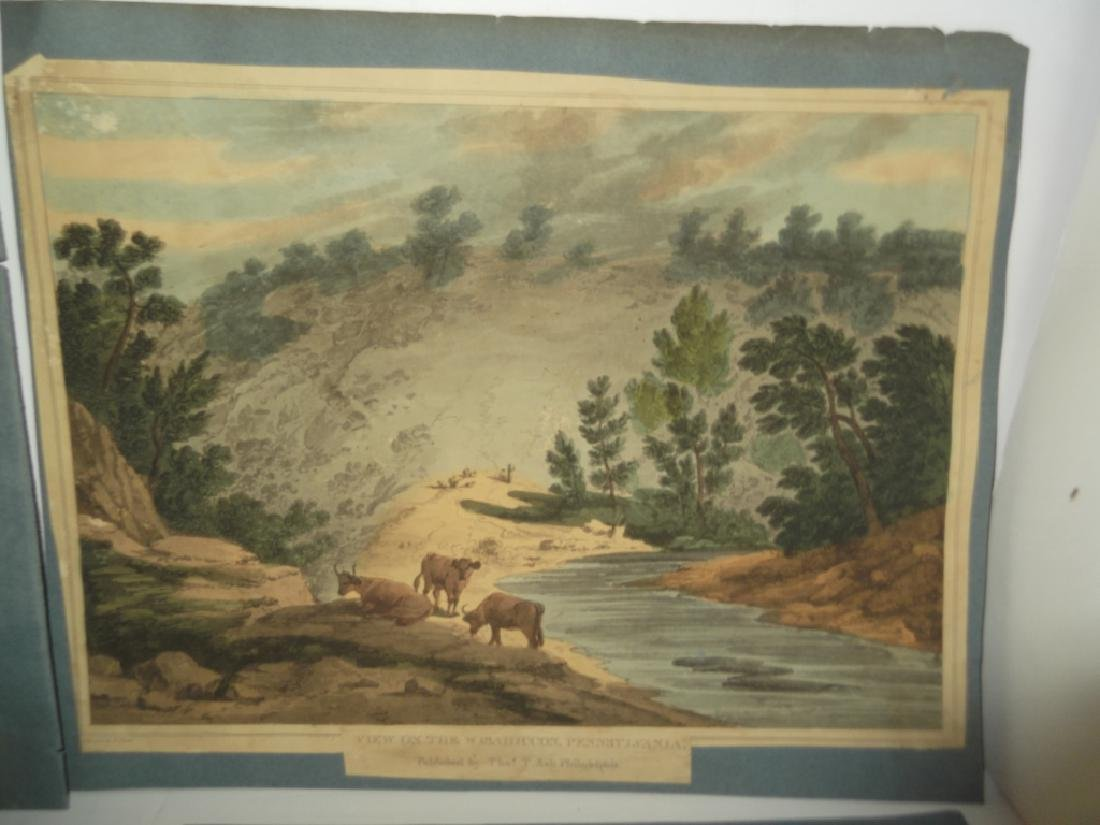10 19th/20th c. colored etchings/engravings - 7