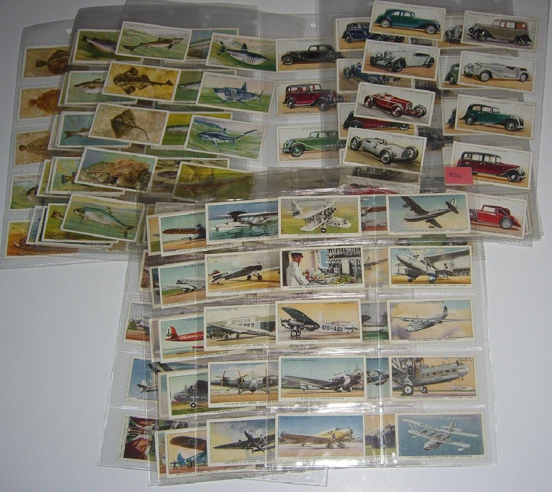 3 complete sets of tobacco cards
