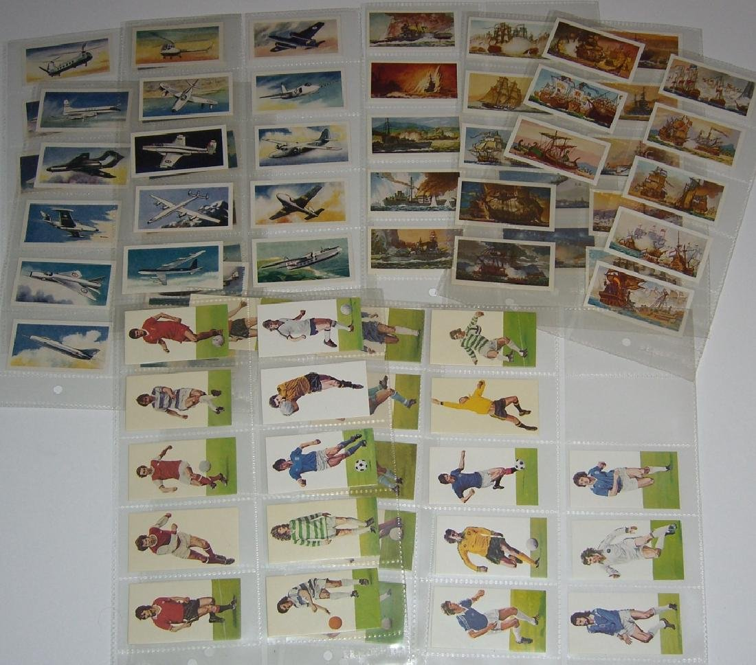 3 complete sets of tobacco/tea cards