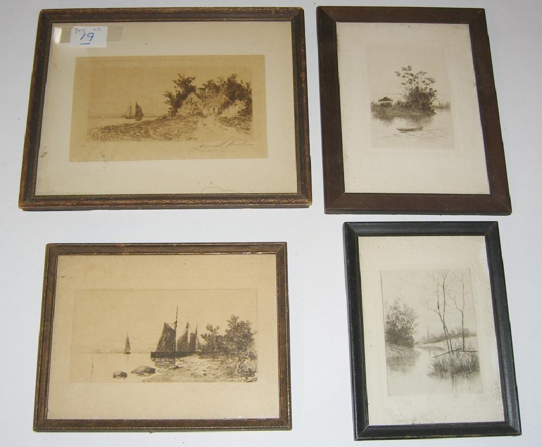 4 20th century etchings/engravings