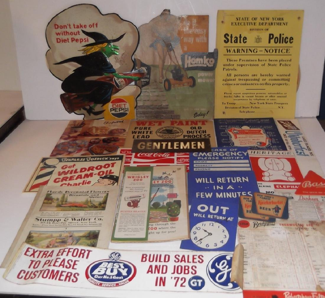 22 vintage advertising lot