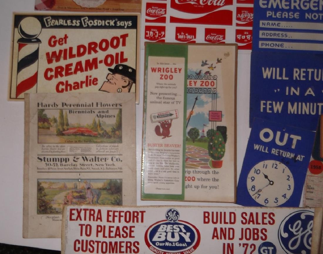 22 vintage advertising lot - 2