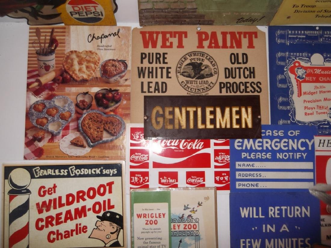 22 vintage advertising lot - 5