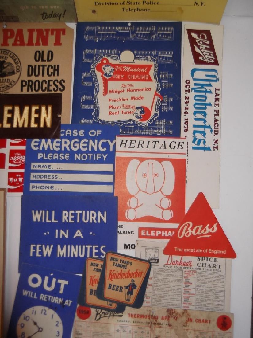22 vintage advertising lot - 6