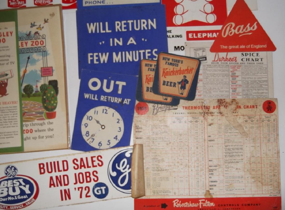 22 vintage advertising lot - 7