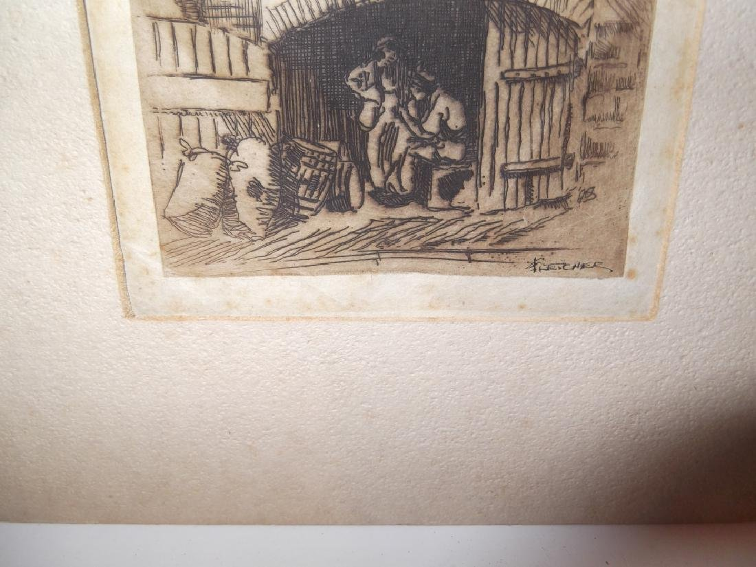 6 lithographs/etchings/engravings - 2
