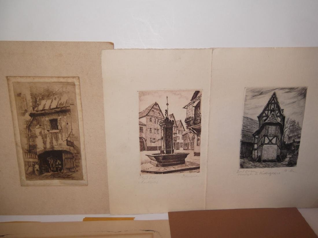 6 lithographs/etchings/engravings - 3