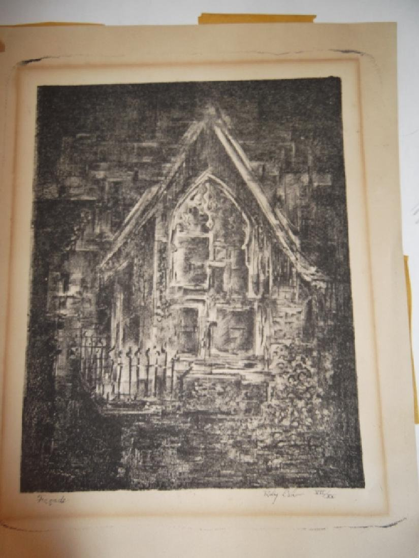6 lithographs/etchings/engravings - 4