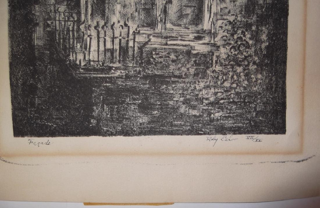 6 lithographs/etchings/engravings - 5