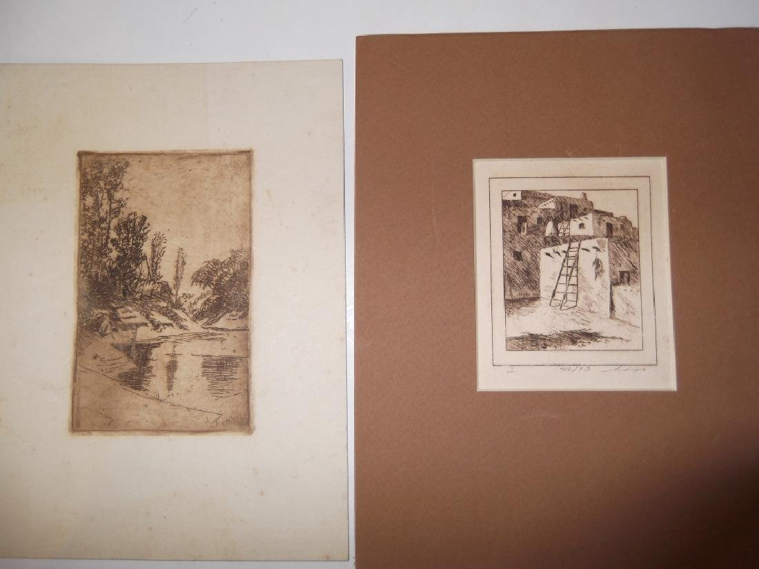 6 lithographs/etchings/engravings - 6