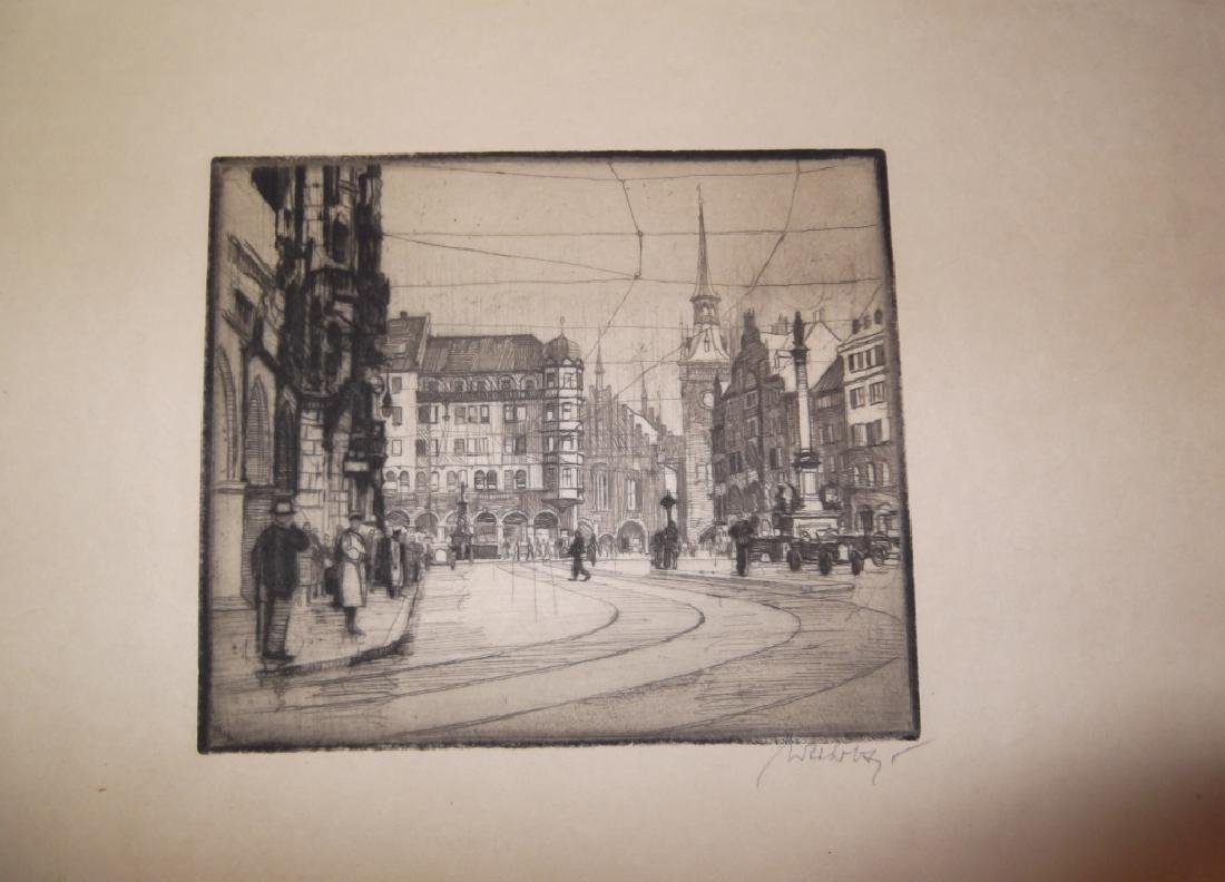 4 etchings/engravings - 2