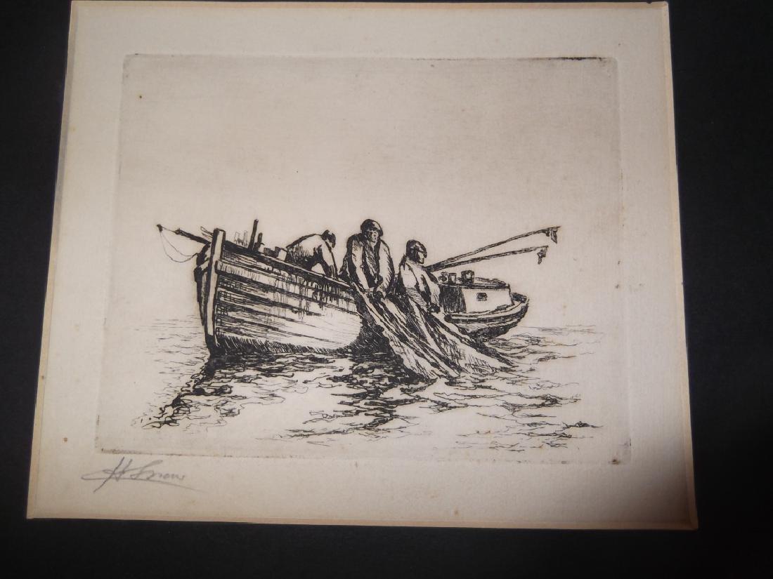4 etchings/engravings - 4