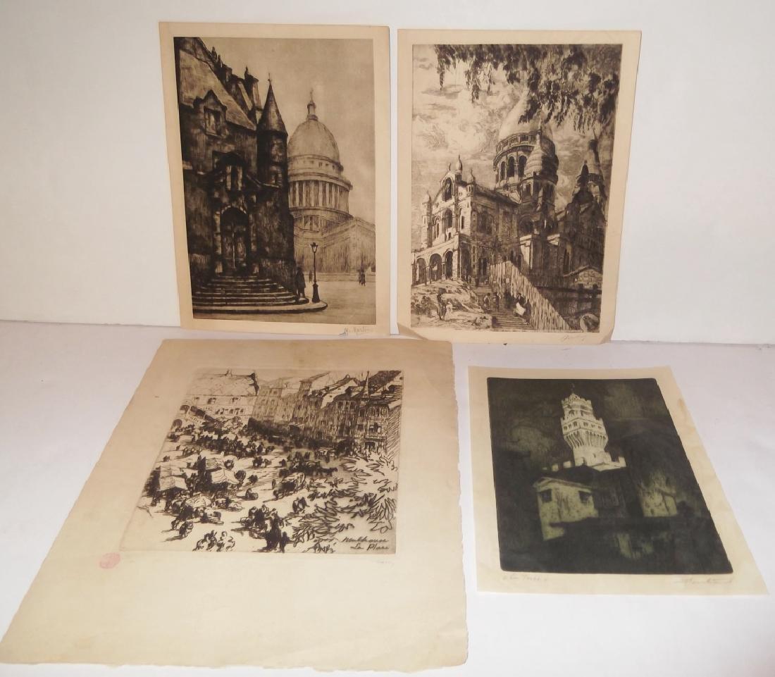 4 etchings/engravings