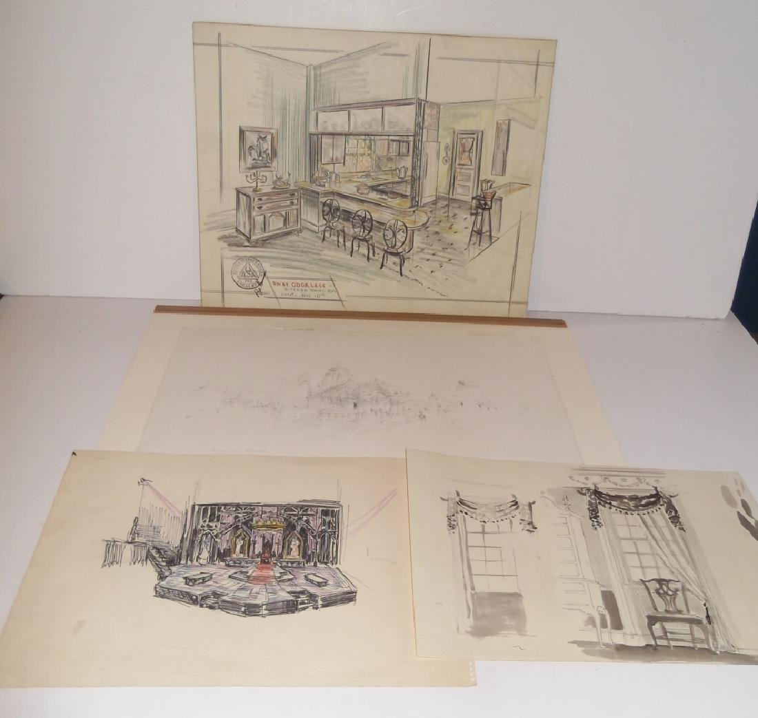 4 original illustration drawings