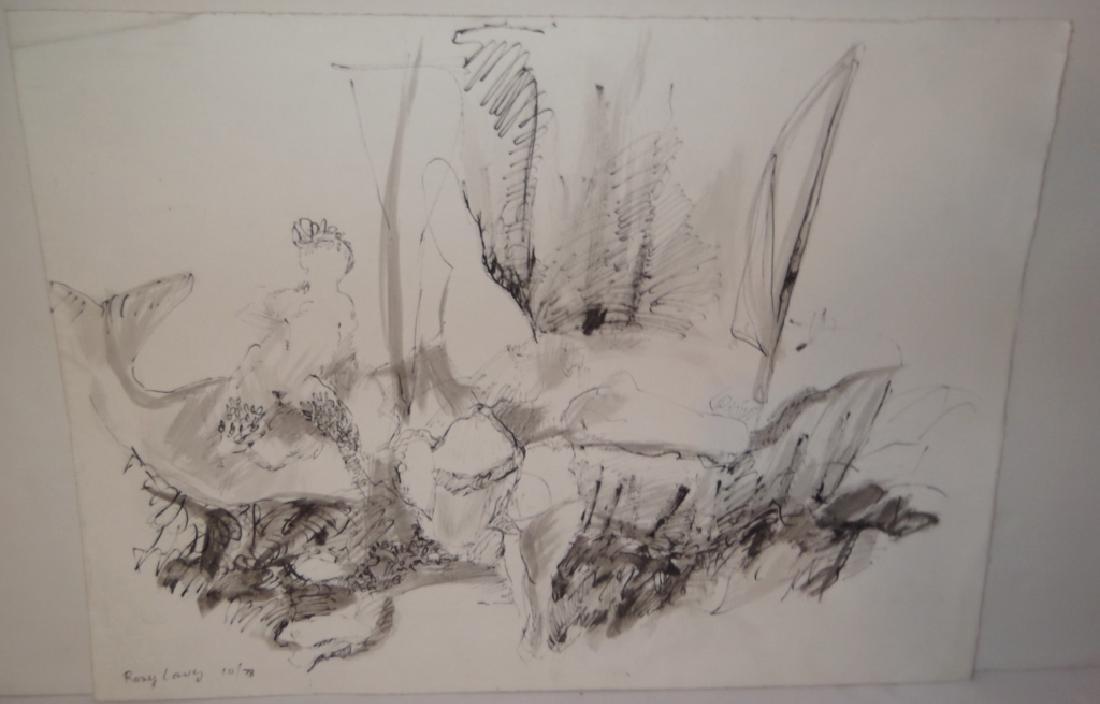 5 mixed media drawings - 8