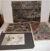 4 piece artwork lot