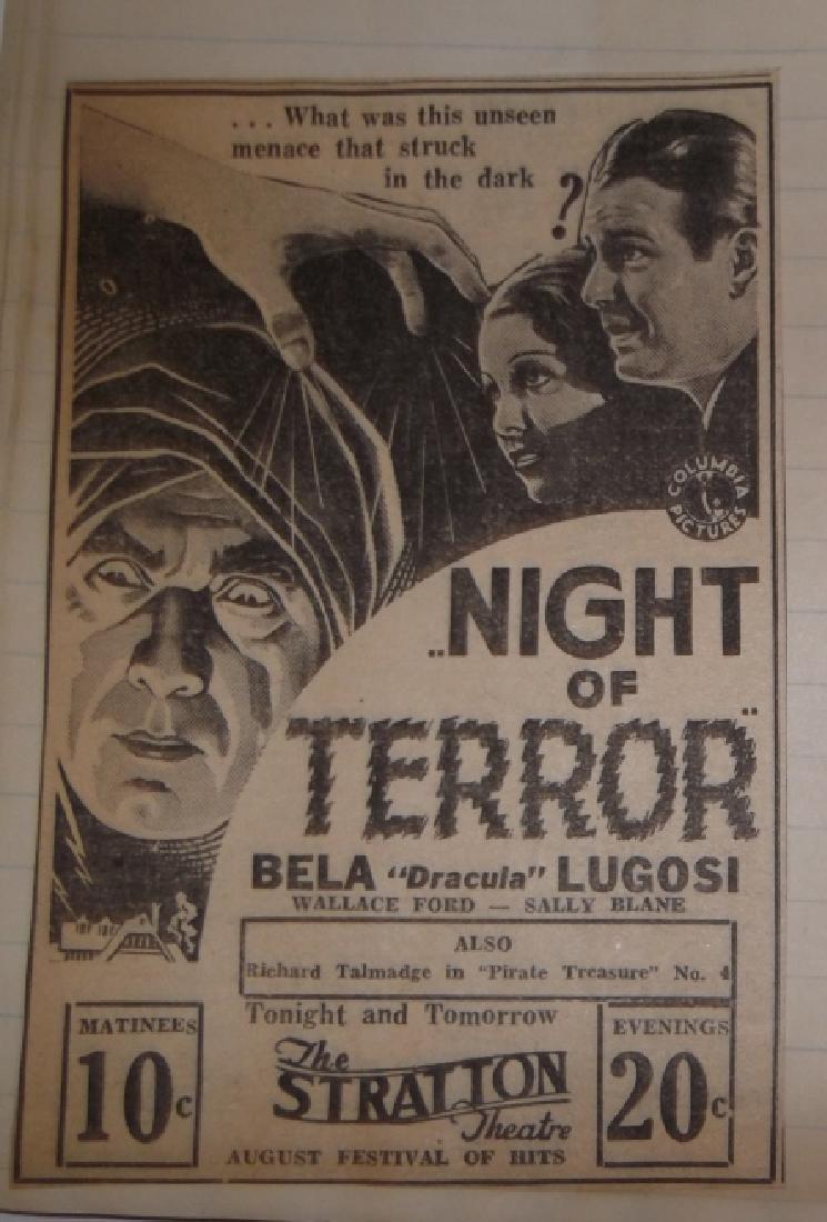 3 1934 movie scrapbooks