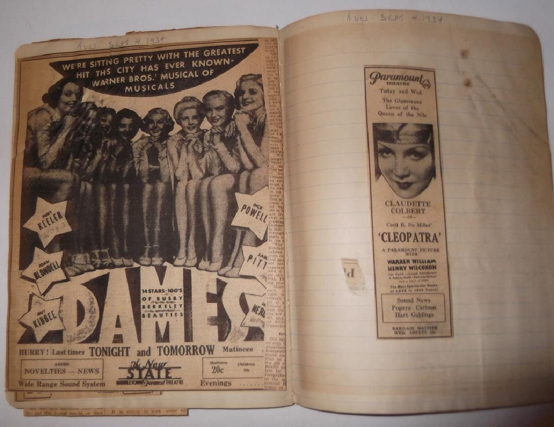 3 1934 movie scrapbooks - 3