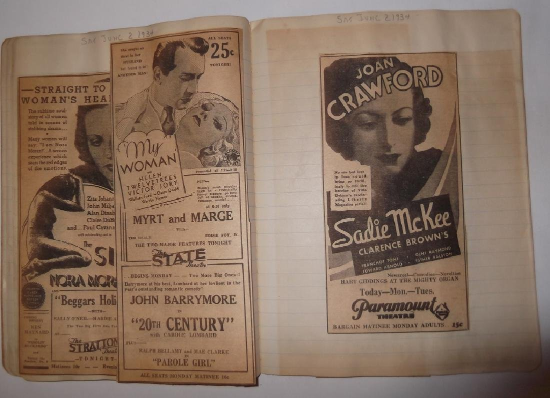 3 1934 movie scrapbooks - 5