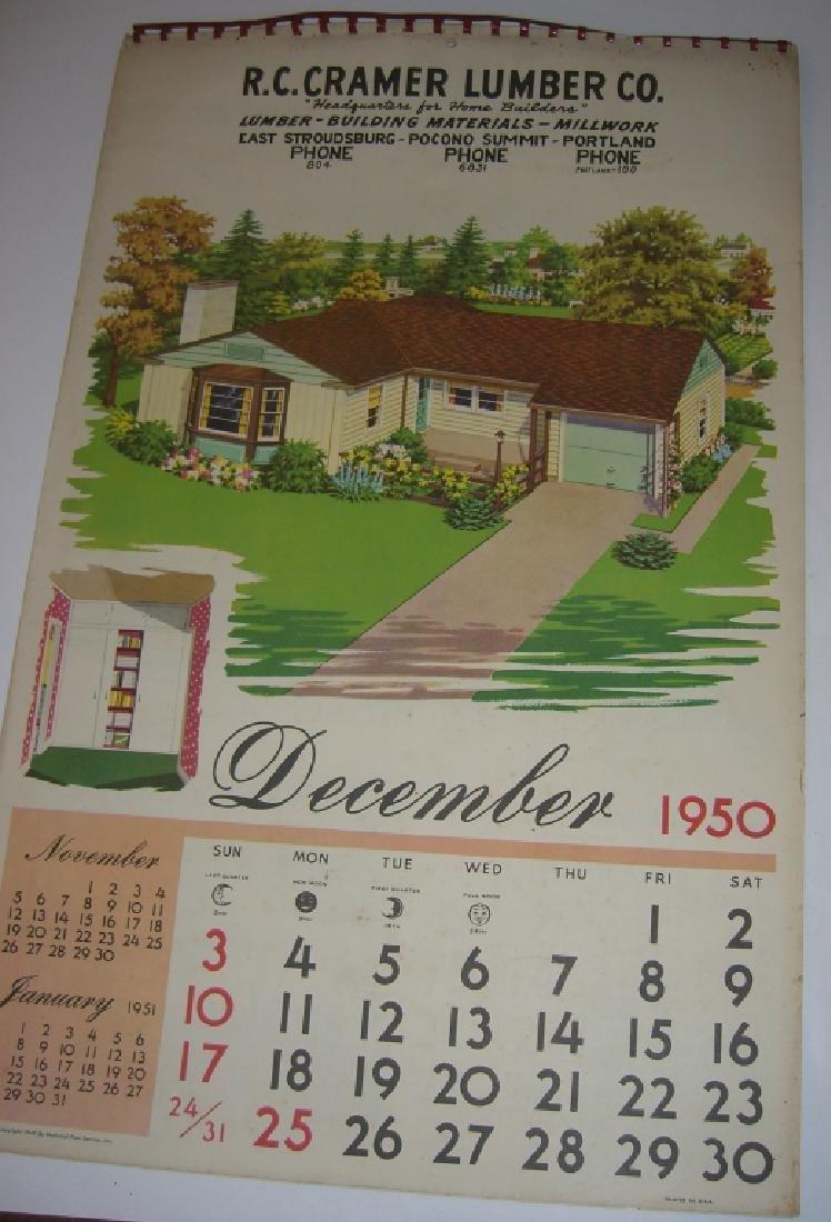 15 vintage advertising calendars - 2