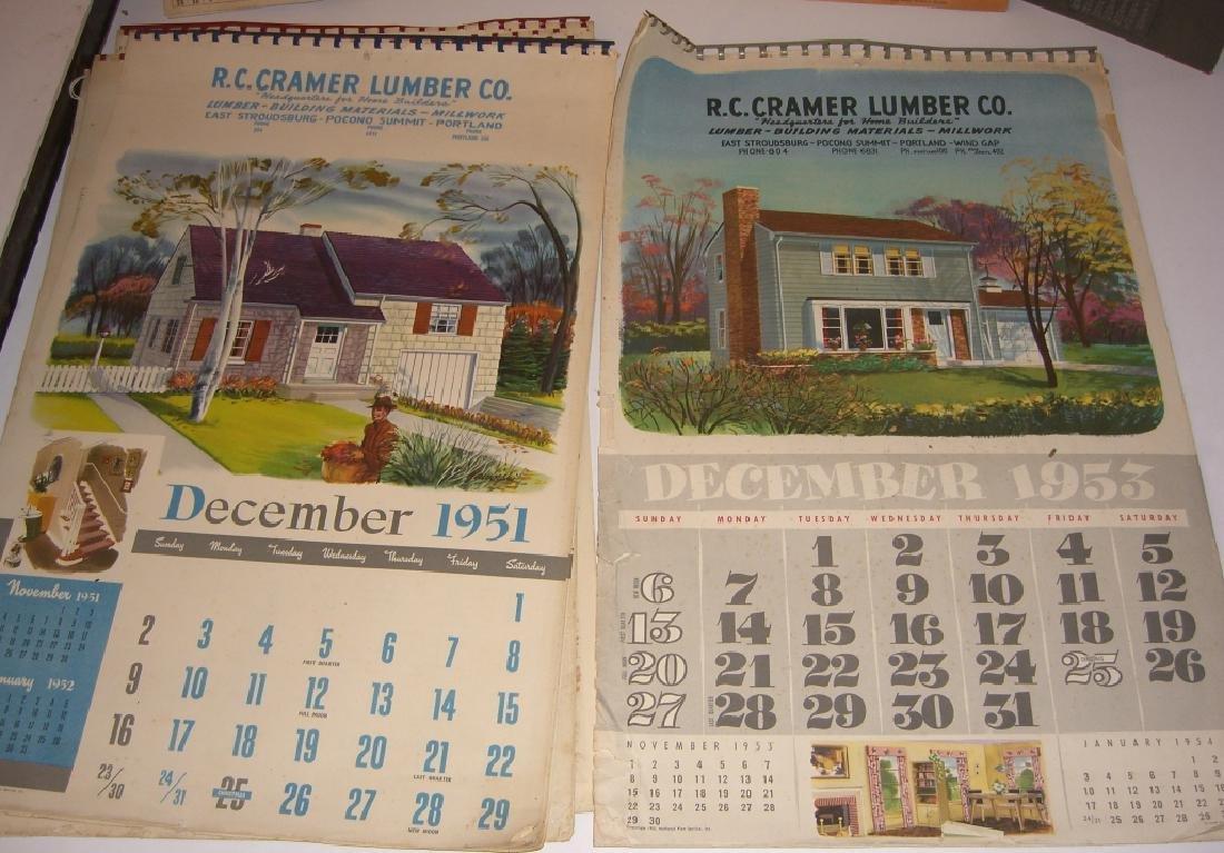 15 vintage advertising calendars - 9