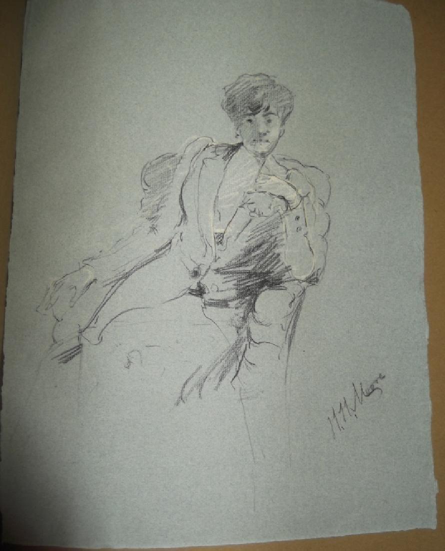 Vintage Scrapbook of 78 original folk art drawings - 10
