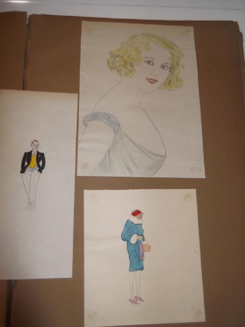 Vintage Scrapbook of 78 original folk art drawings - 2
