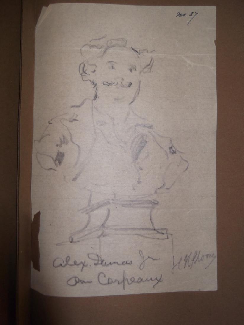 Vintage Scrapbook of 78 original folk art drawings - 4