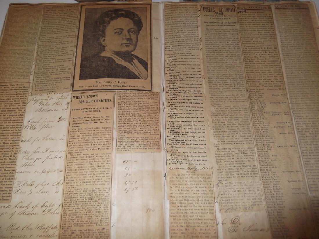 4 19th century  scrapbooks/ledgers