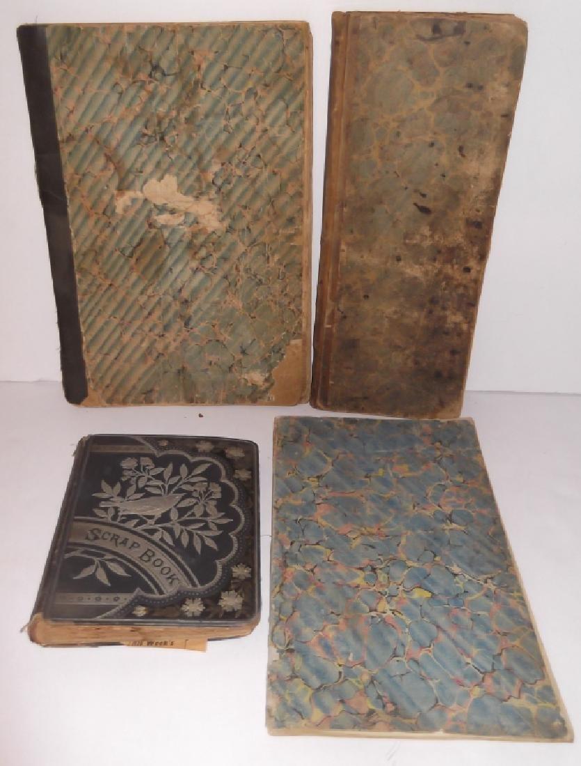 4 19th century  scrapbooks/ledgers - 5