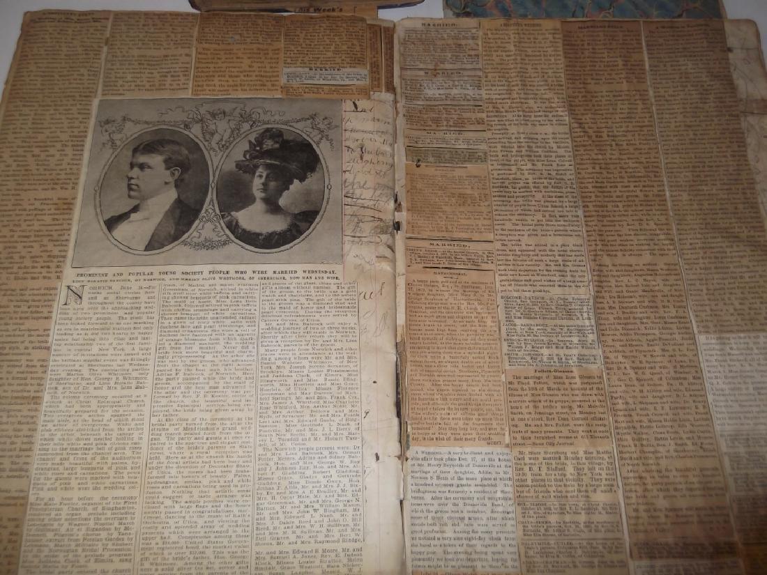 4 19th century  scrapbooks/ledgers - 6