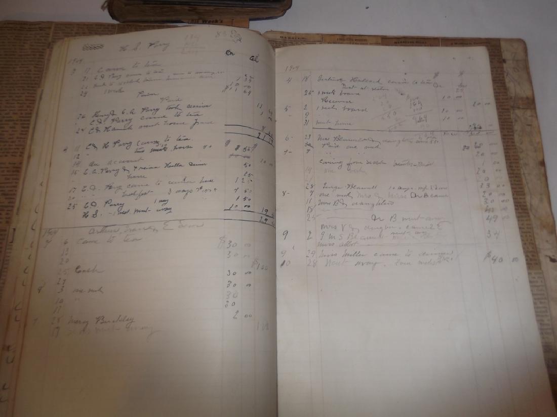4 19th century  scrapbooks/ledgers - 8