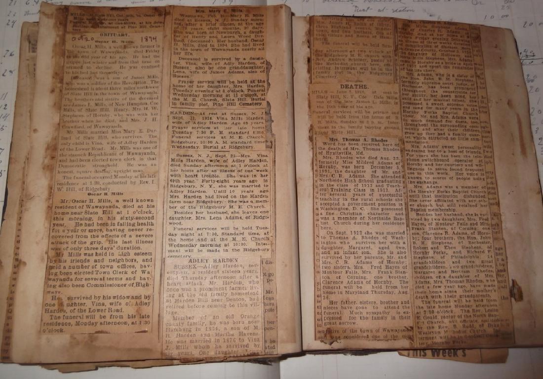 4 19th century  scrapbooks/ledgers - 9