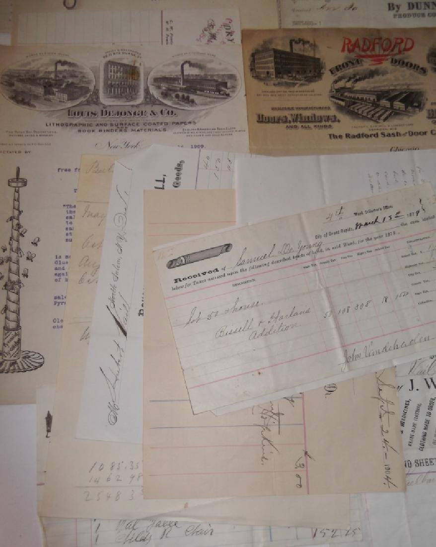 19th/20th century receipts, invoices, letter heads - 4