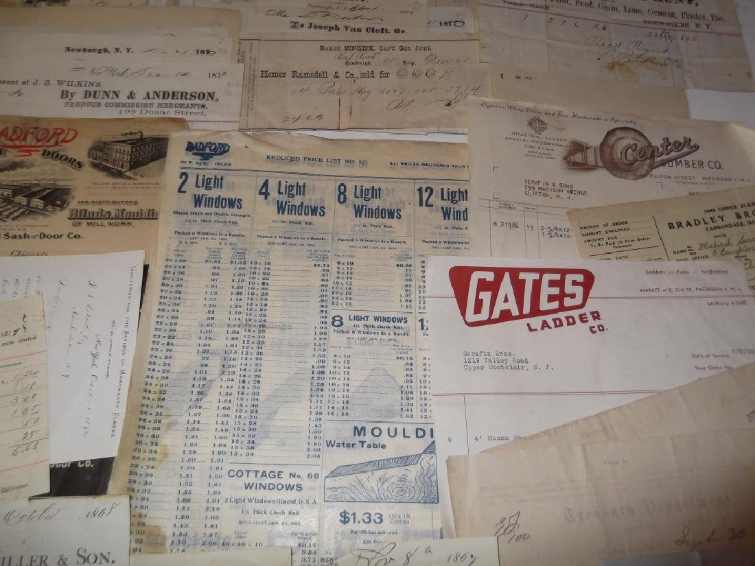 19th/20th century receipts, invoices, letter heads - 5