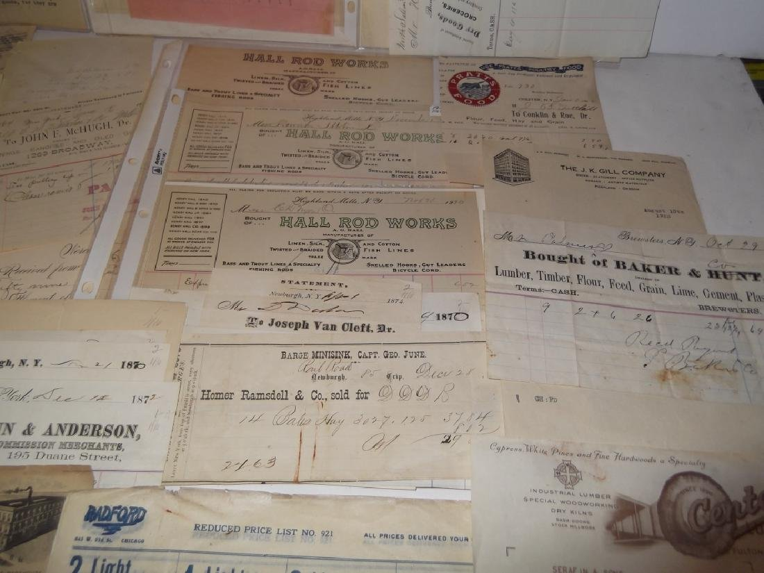 19th/20th century receipts, invoices, letter heads - 7