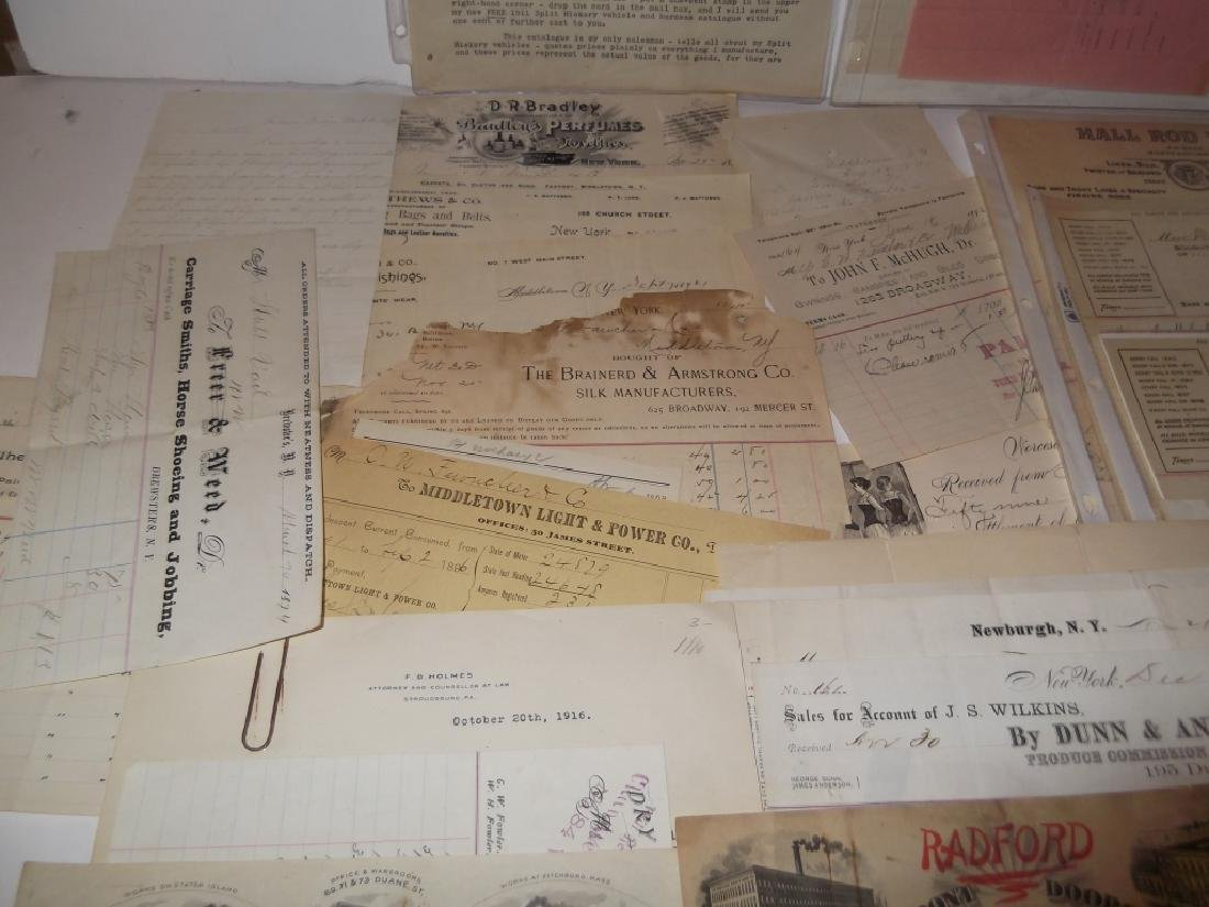 19th/20th century receipts, invoices, letter heads - 8