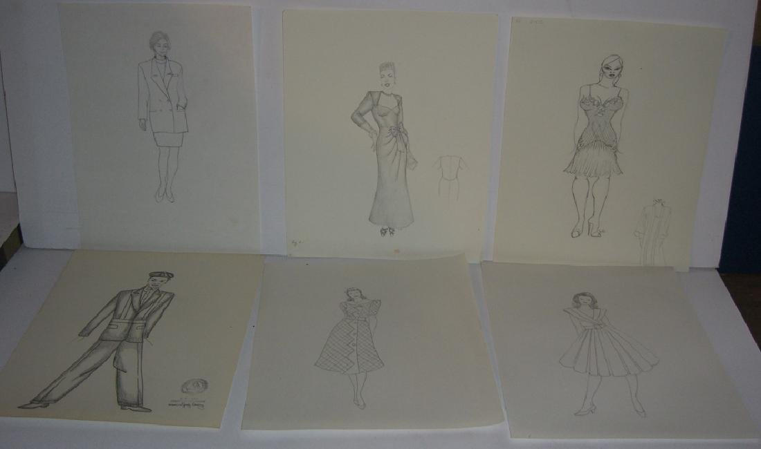 27 original costume illustration drawings - 10