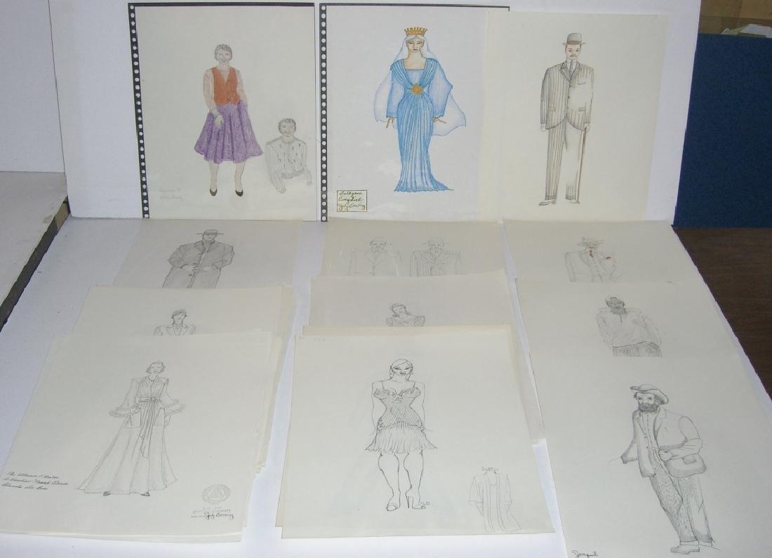 27 original costume illustration drawings