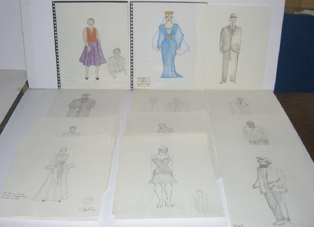27 original costume illustration drawings