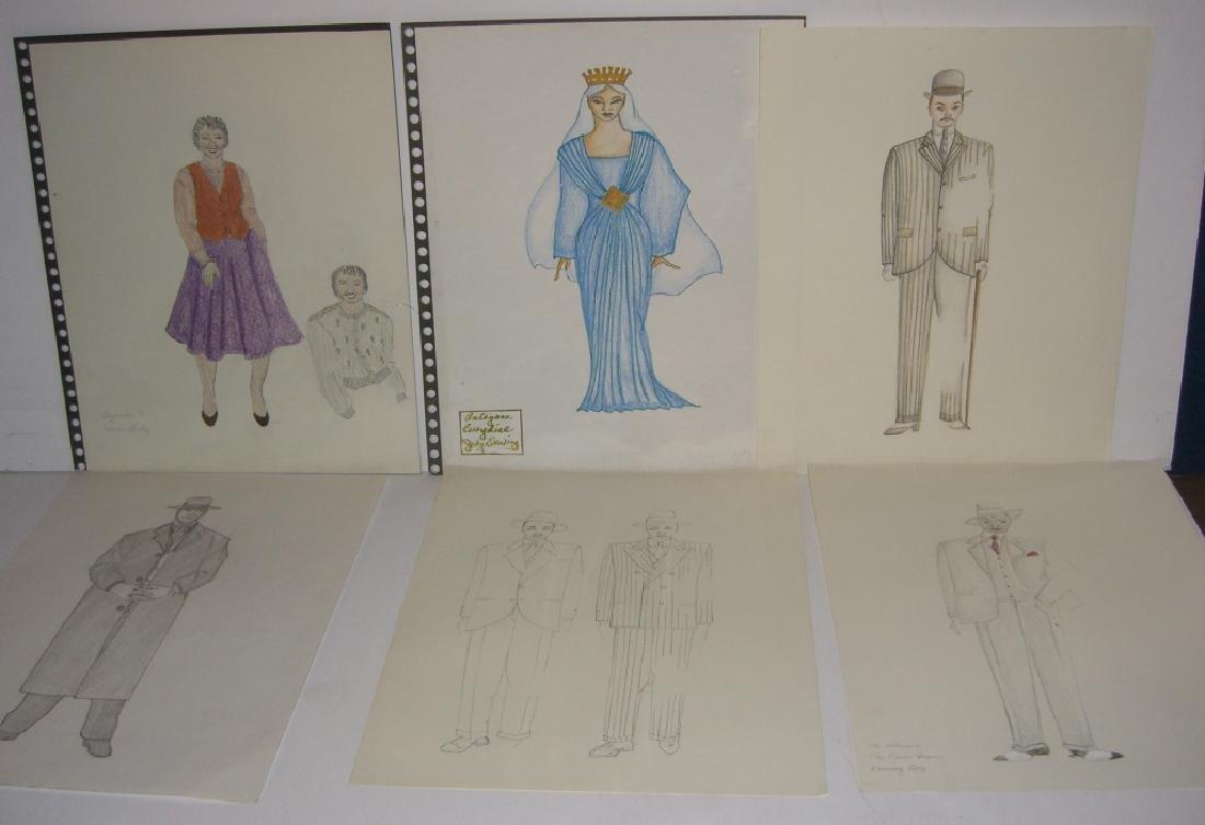 27 original costume illustration drawings - 3