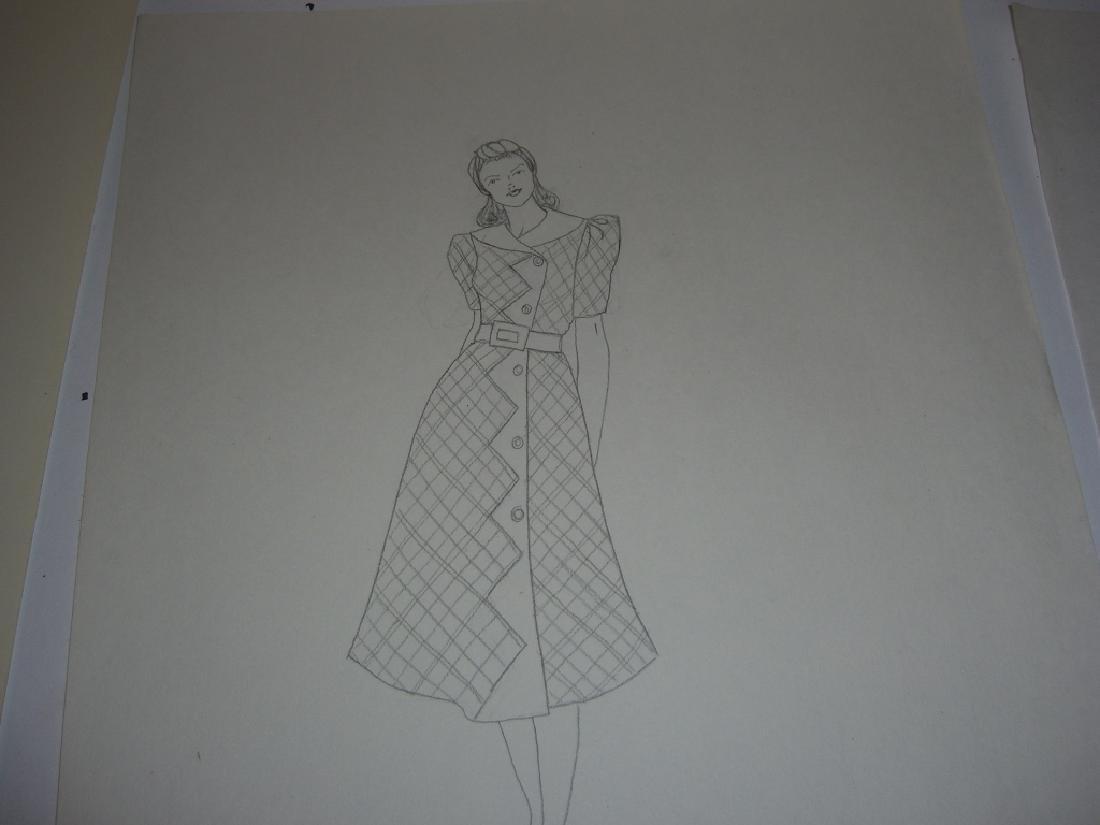 27 original costume illustration drawings - 7