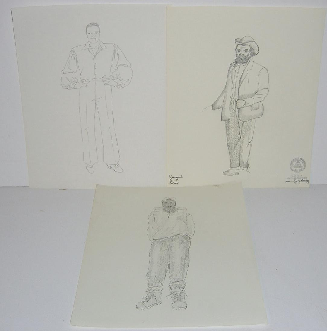 27 original costume illustration drawings - 8