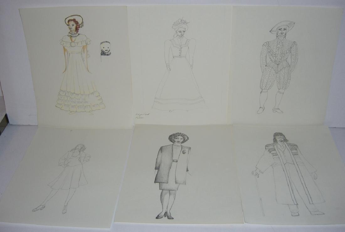 27 original costume illustration drawings - 9