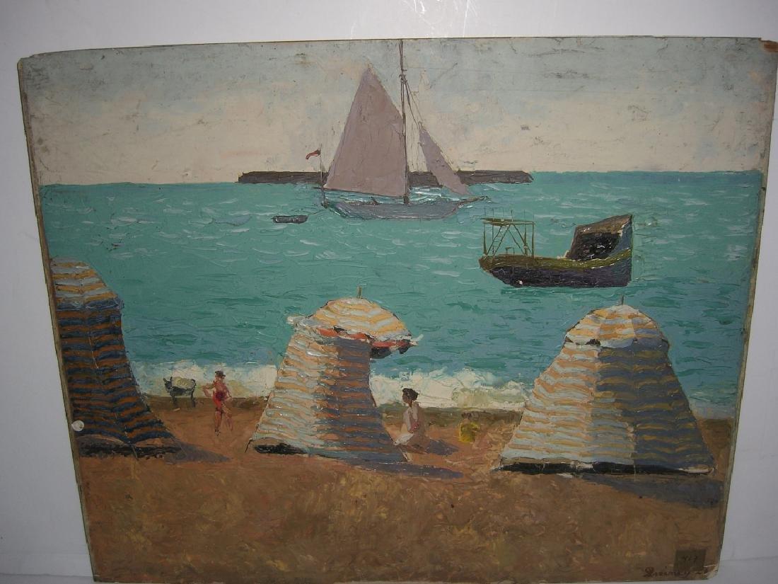 2 oil on board paintings - 3