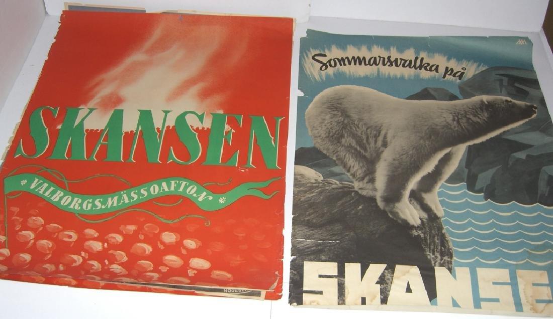 4 Skansen travel advertising posters