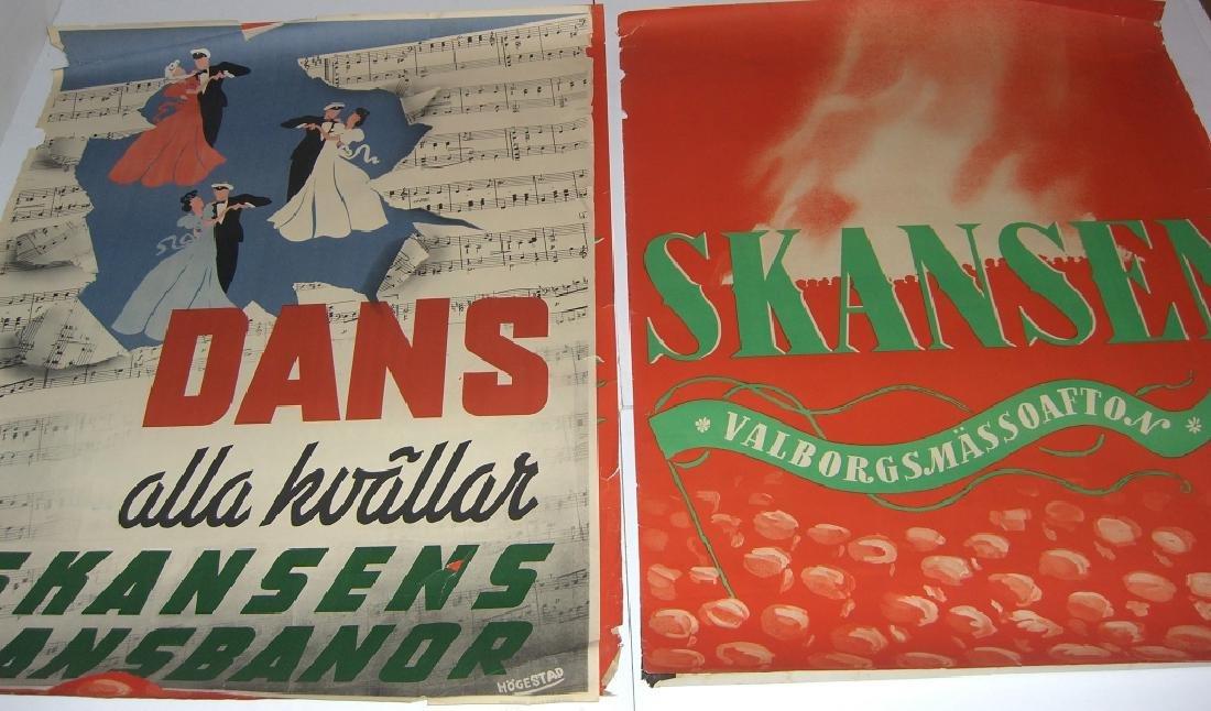 4 Skansen travel advertising posters - 2